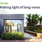 Domain article on Yarra House about making the most of light and views on a south facing block