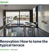 article in Domain on renovating a victorian terrace successfully