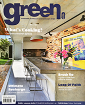 Green Magazine article on kitchen design for indoor outdoor kitchens